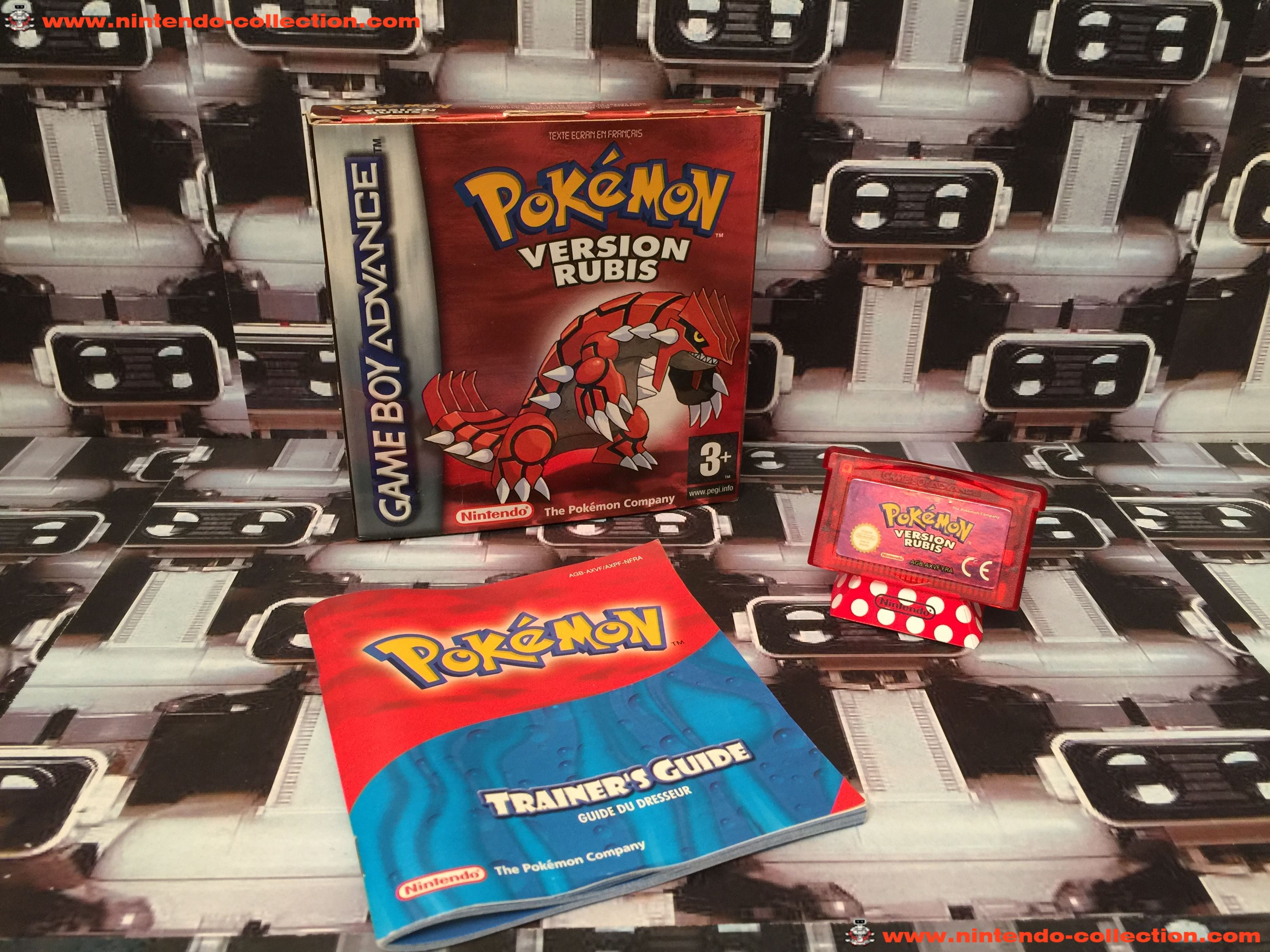 www.nintendo-collection.com - Gameboy Advance GBA Game Jeux Pokemon Rubis French Francaise Version
