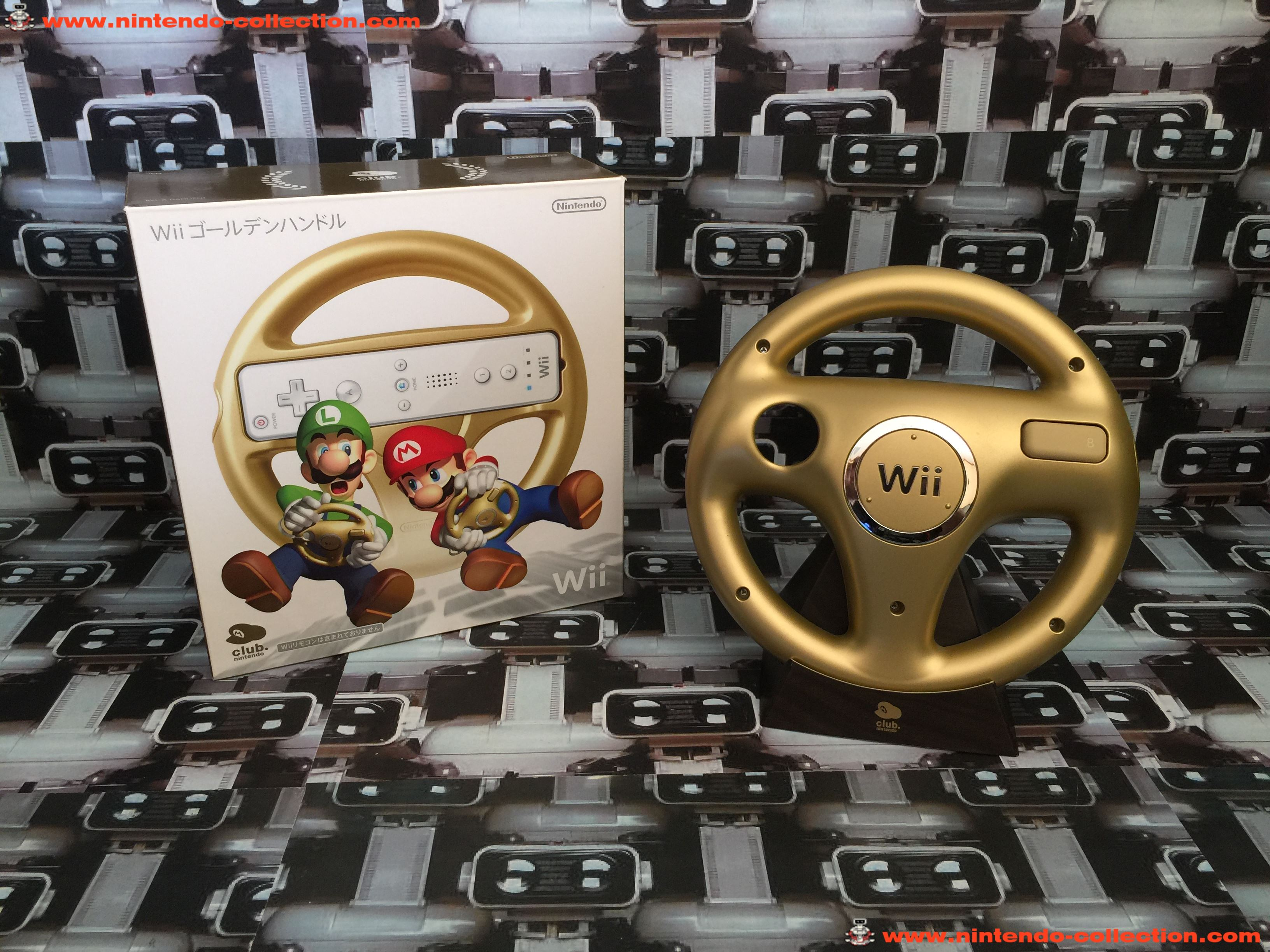 www.nintendo-collection.com - Wii Wheel Gold Or Club Nintendo Limited Edition Japan version - 01