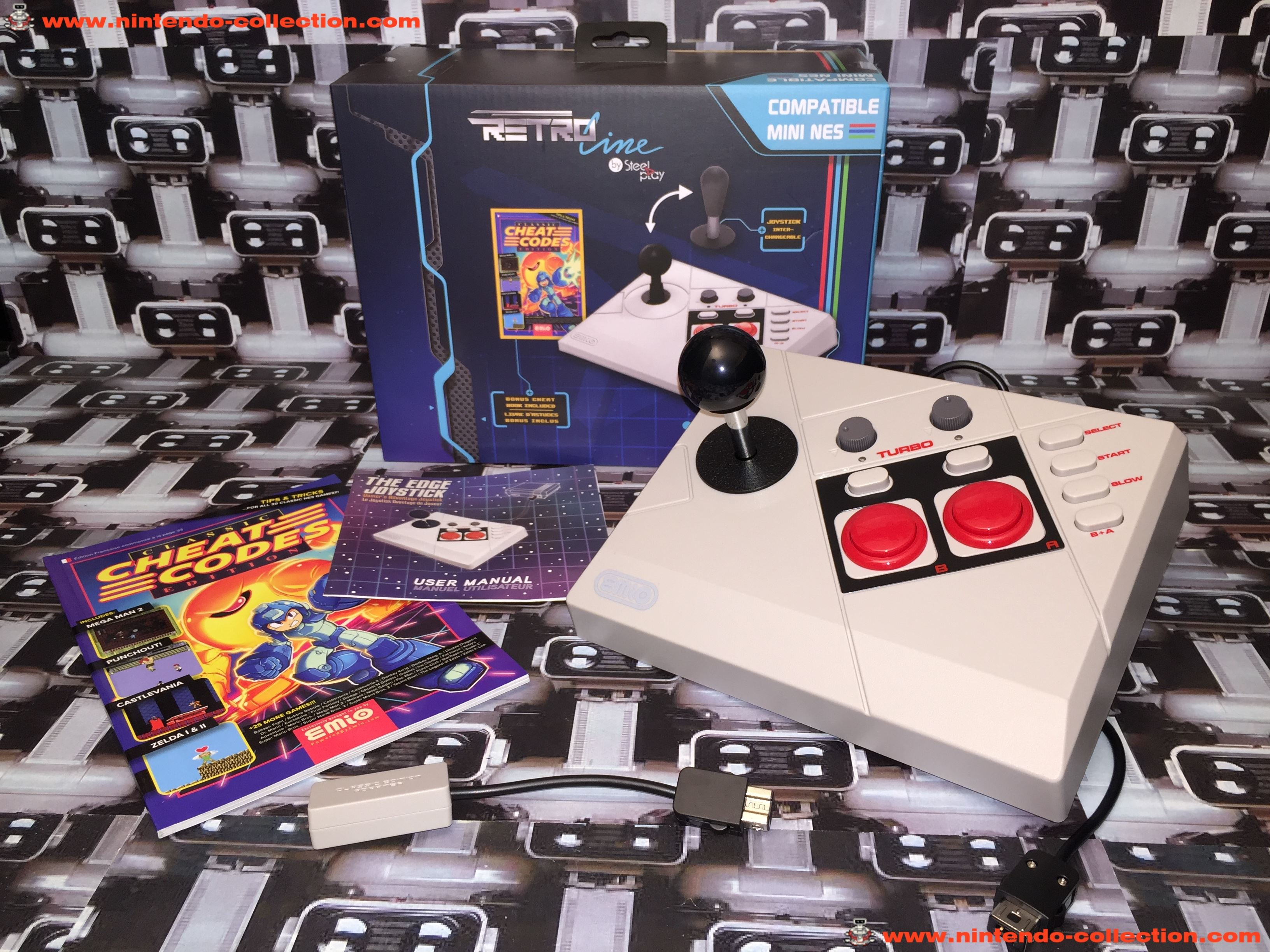 www.nintendo-collection.com - Nintendo Classic Mini Edge Arcade Stick Joystick Nes Nintendo Entertai