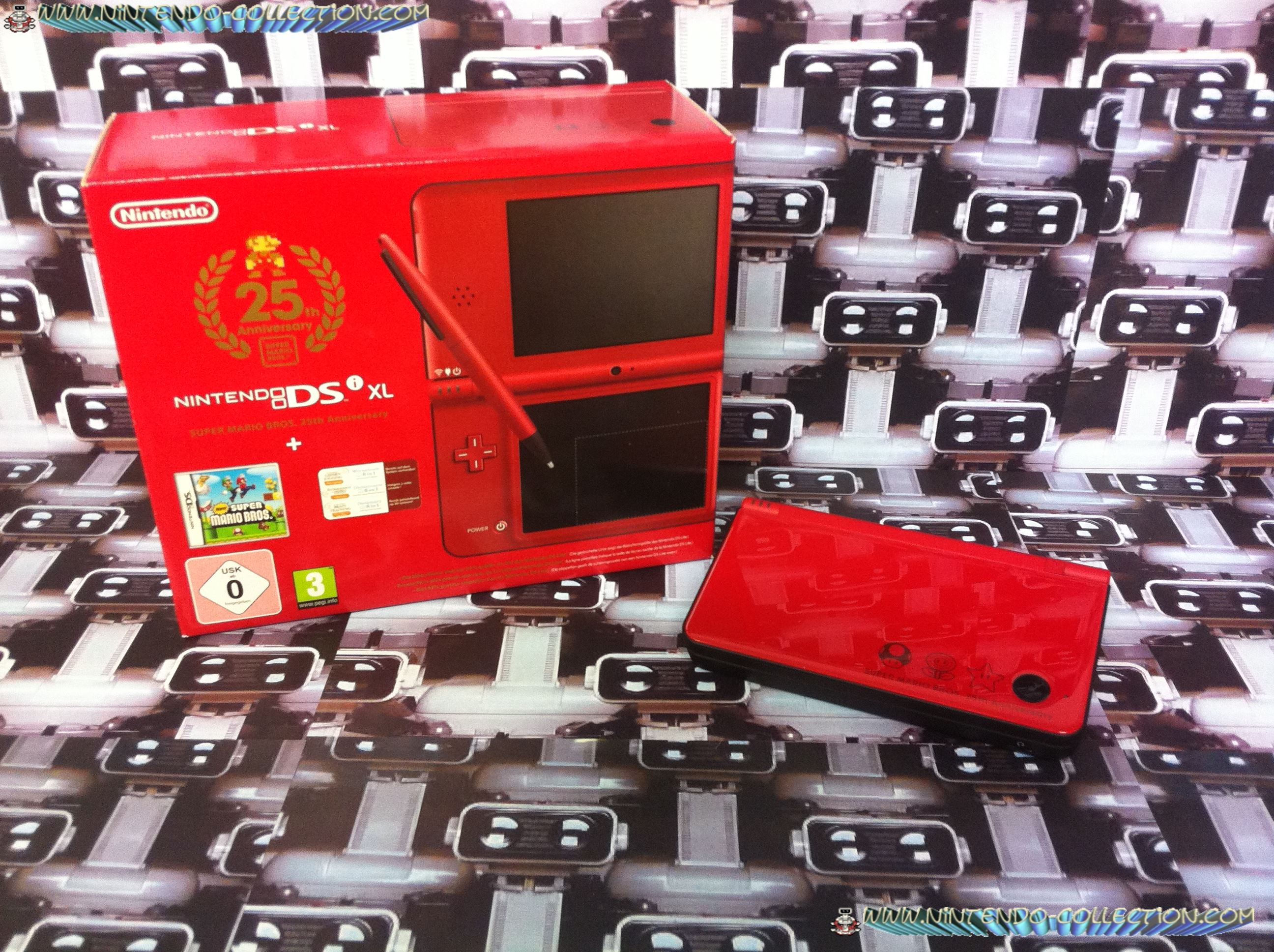 www.nintendo-collection.com -  DSi XL LL Mario 25th anniversary - Mario 25eme anniversaire