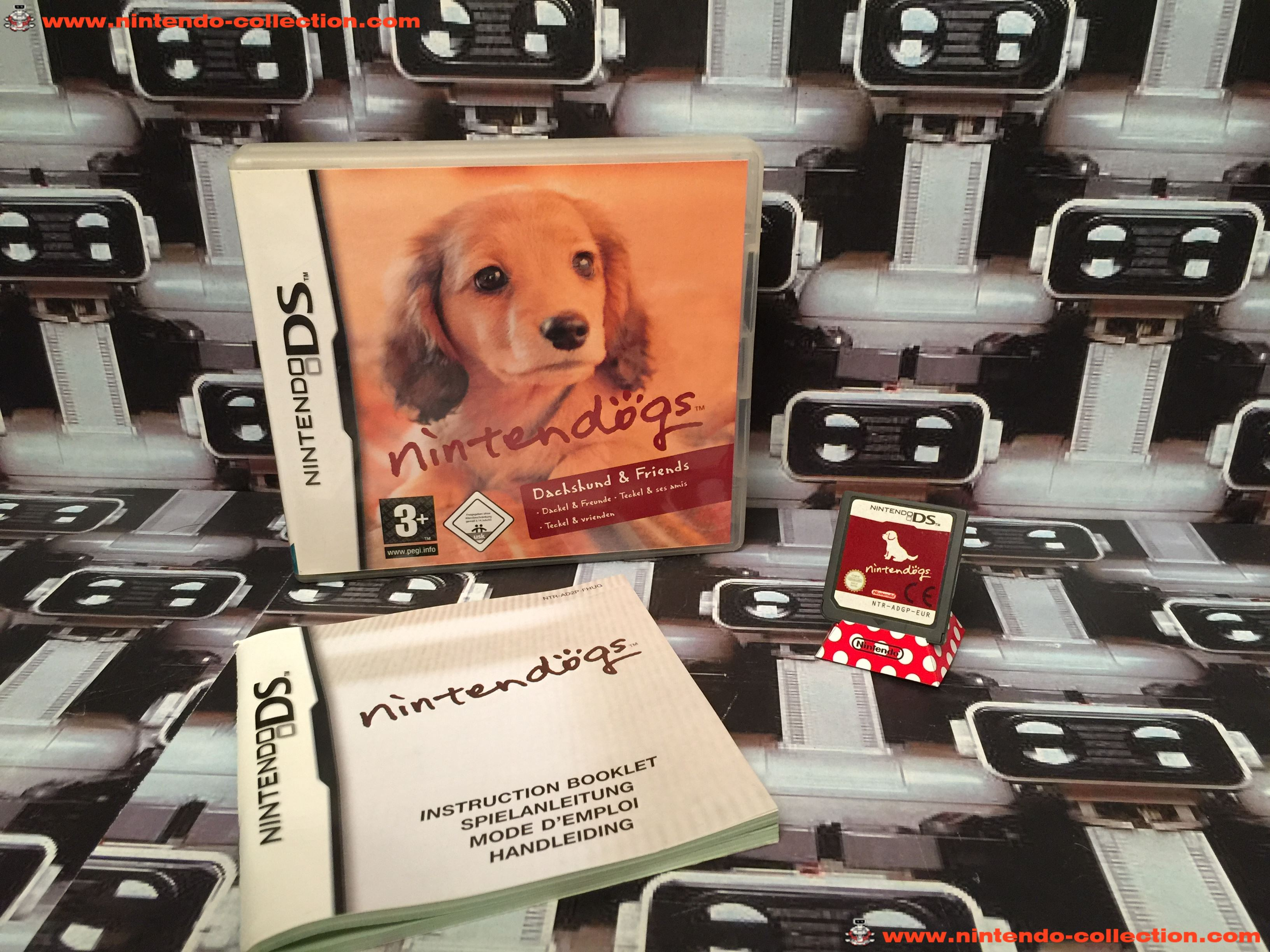www.nintendo-collection.com - Nintendo DS Jeux Game Nintendogs Dachshund & friends Teckel et ses ami