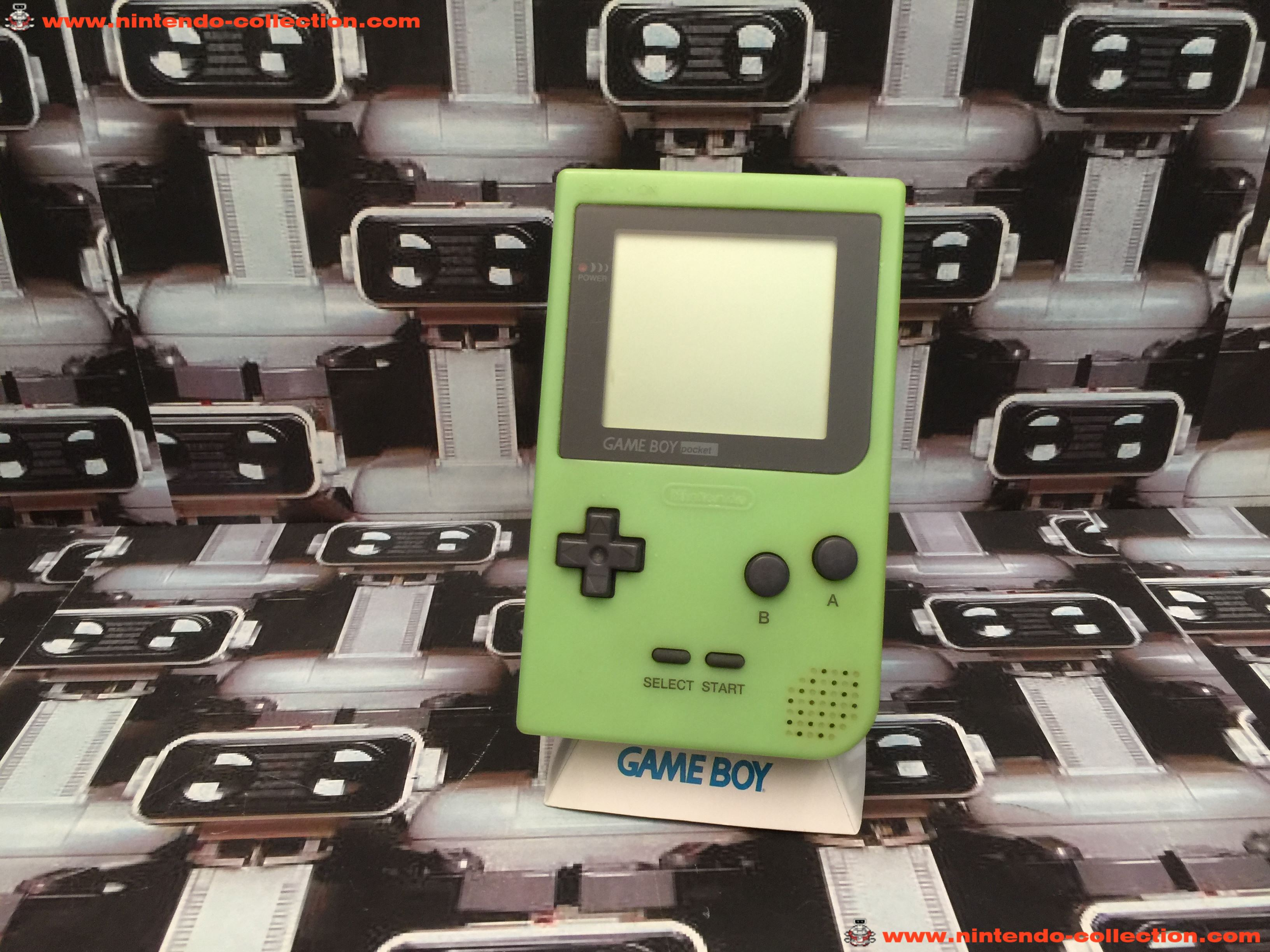 www.nintendo-collection.com - Gameboy GB Pocket Limited edition Imagineer Fluo Glow in the dark Japa