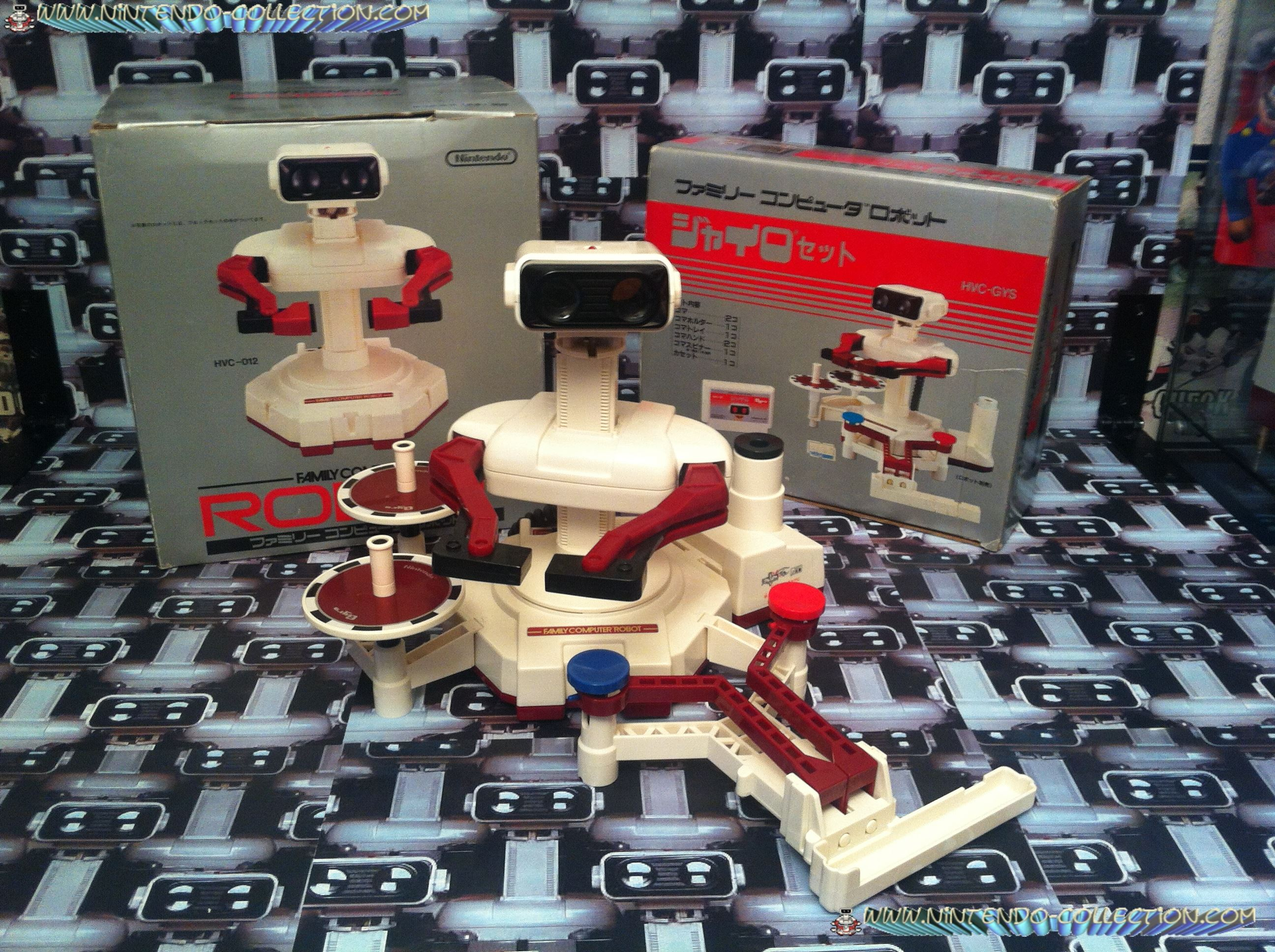 www.nintendo-collection.com -R.O.B. Famicom + Gyromite