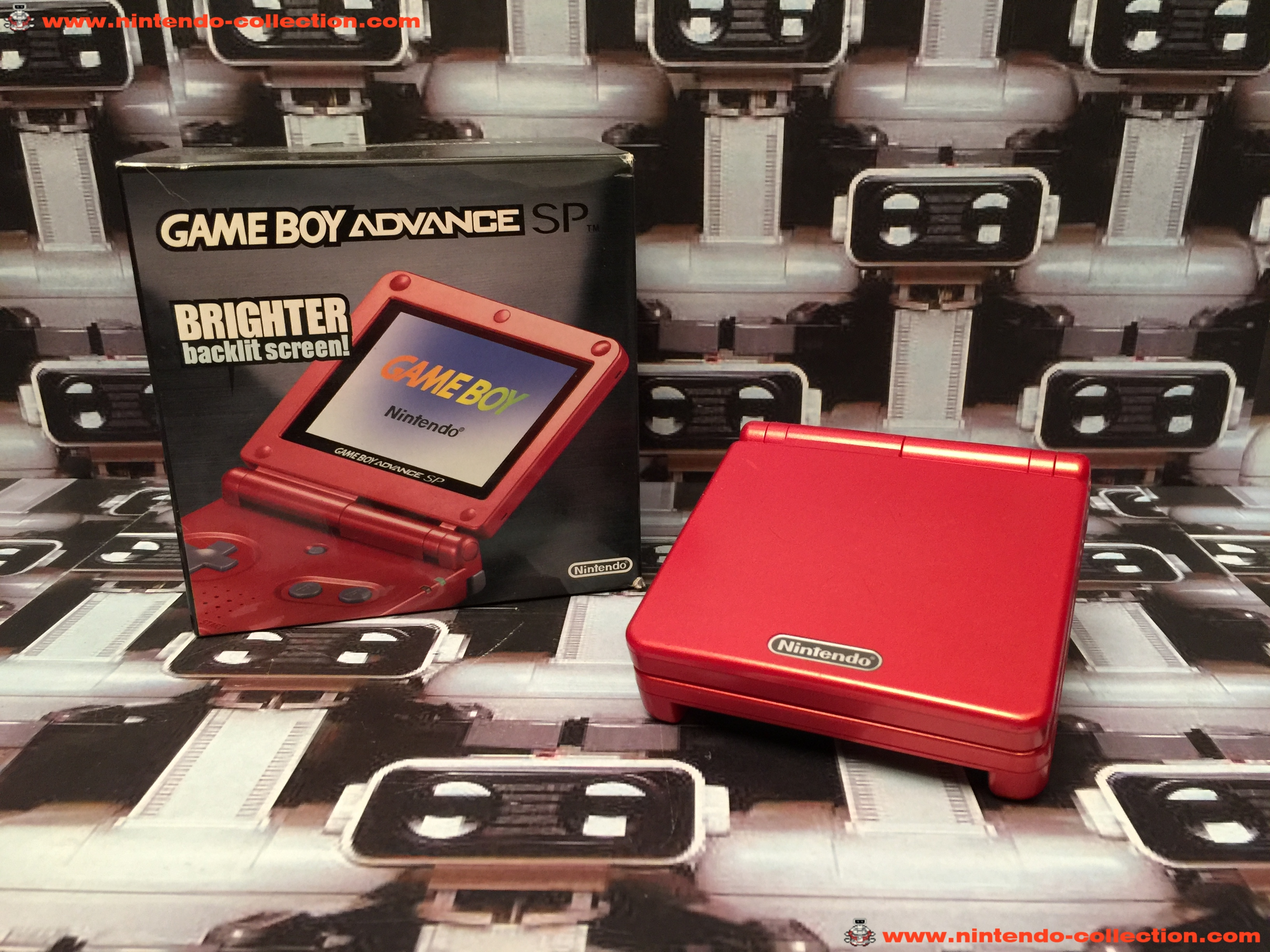 www.nintendo-collection.com - Gameboy Advance GBA SP Rouge Red edition Singapour Singapore - 01