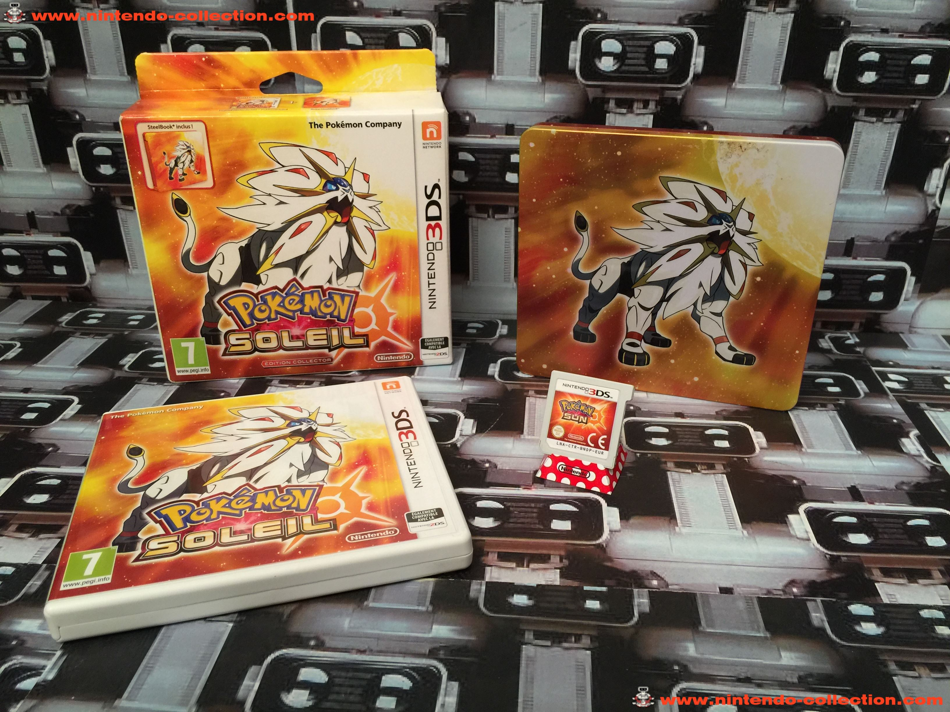 www.nintendo-collection.com - Nintendo 3DS Jeux Game Collector pack Pokemon Soleil Steel Book