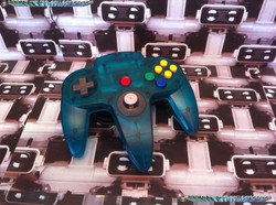 www.nintendo-collection.com  - Nintendo N64 Controller Clear blue Manette  bleue transparente