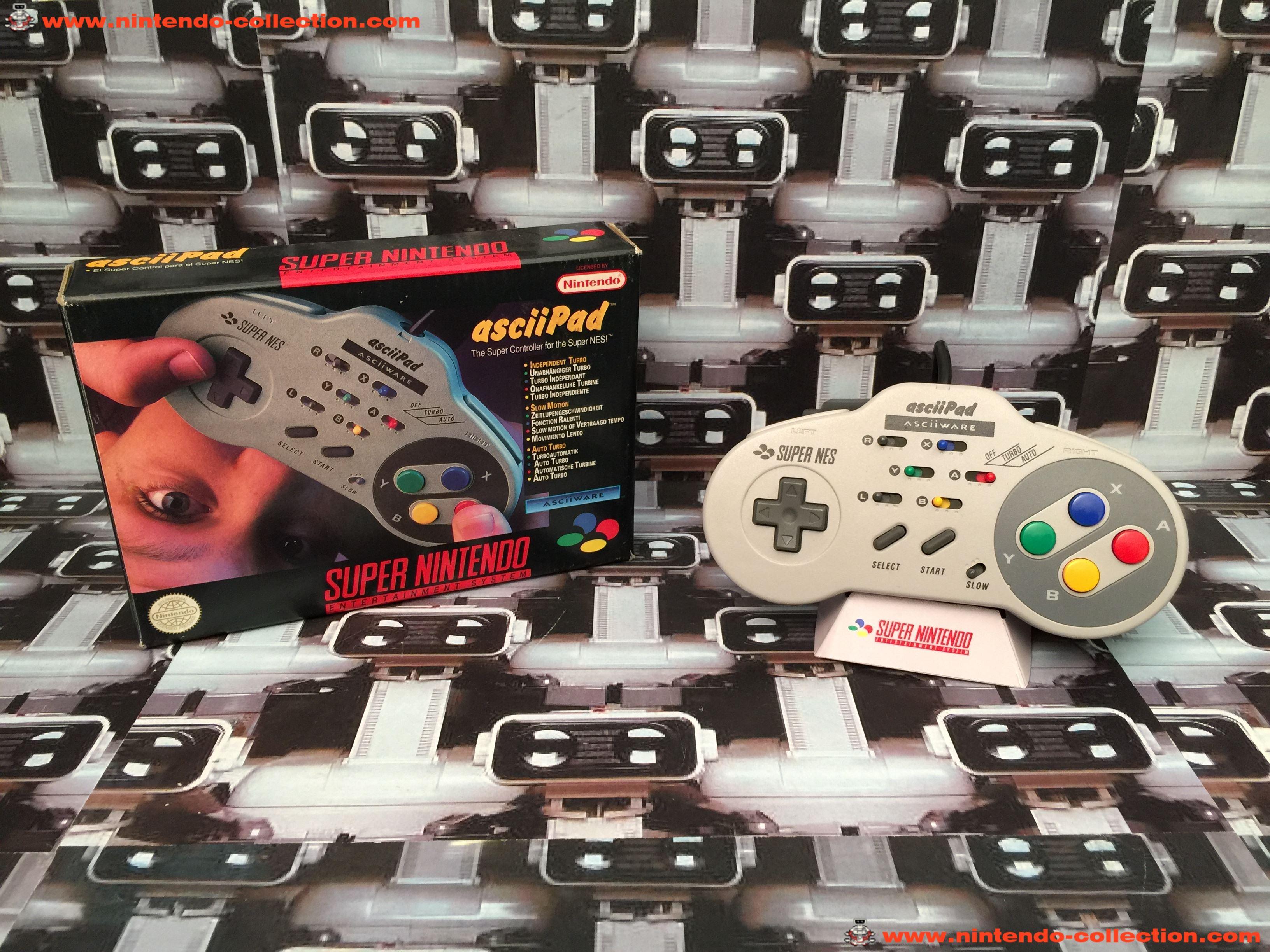 www.nintendo-collection.com - Super Nintendo SNES Asciiware Asciipad Controller Manette
