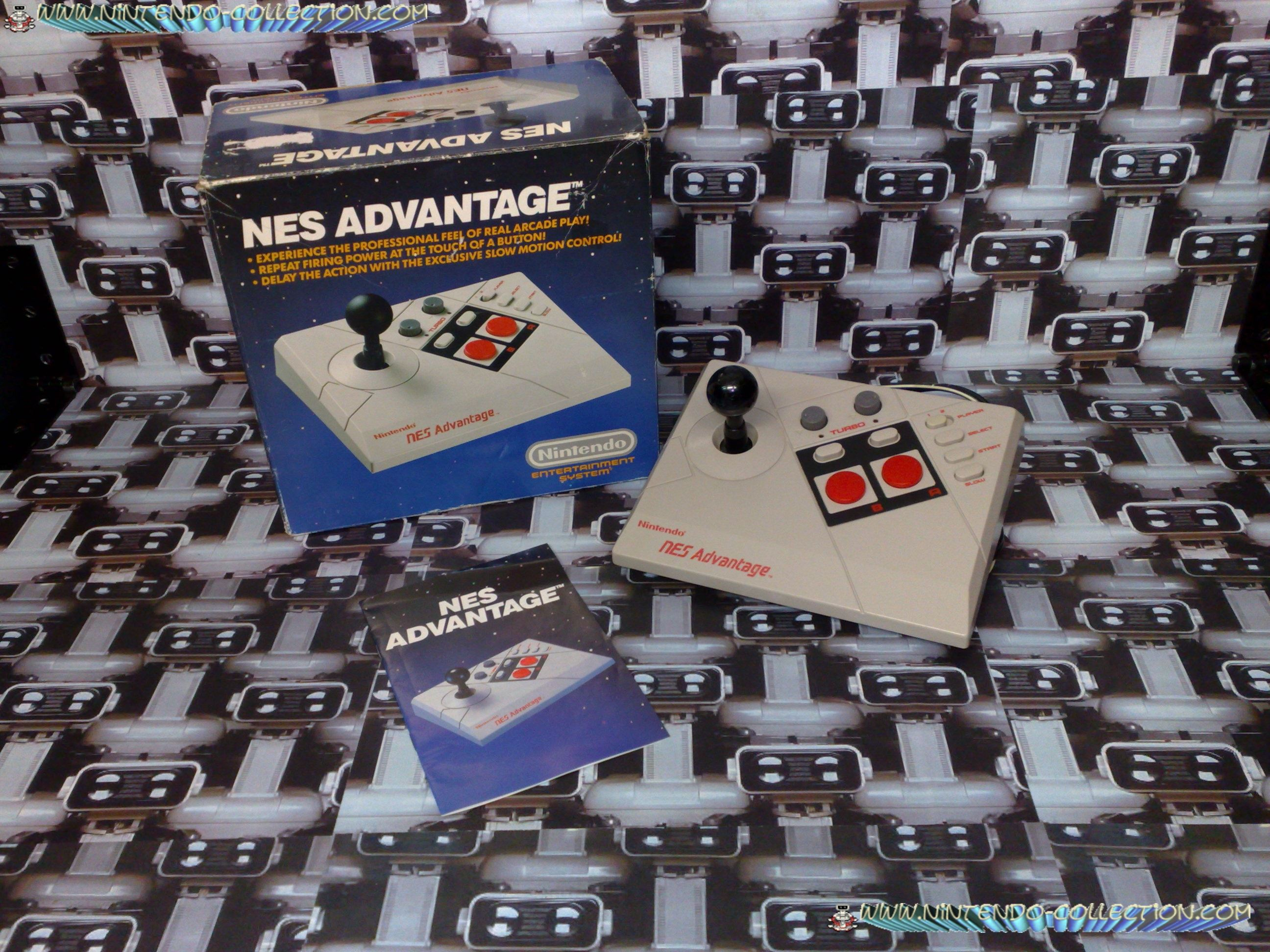 www.nintendo-collection.com - Nintendo NES Advantage - Accessoire en boite US- Accesory in box US