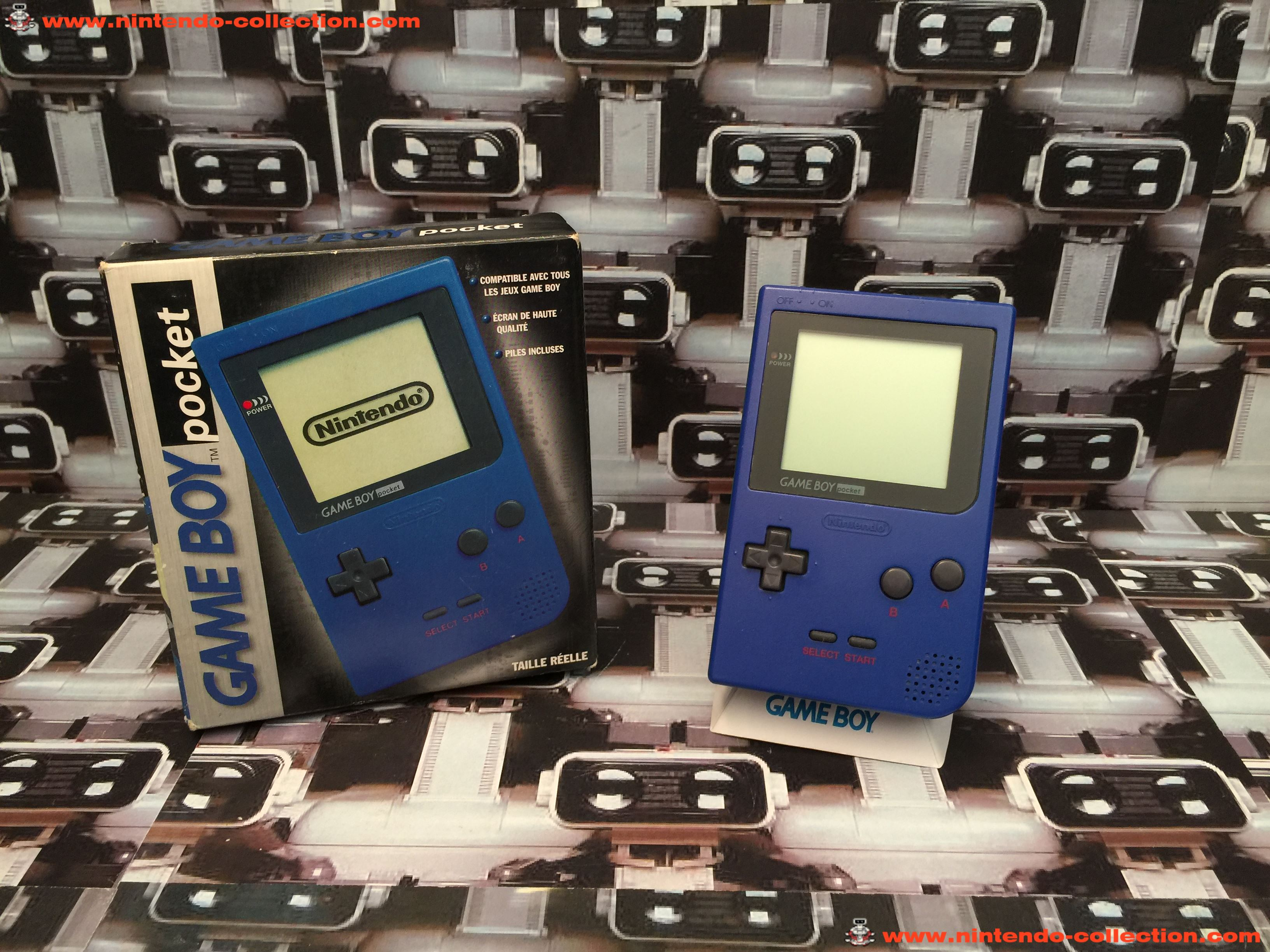 www.nintendo-collection.com - Gameboy GB Pocket Blue Bleu en boite in box European Europe
