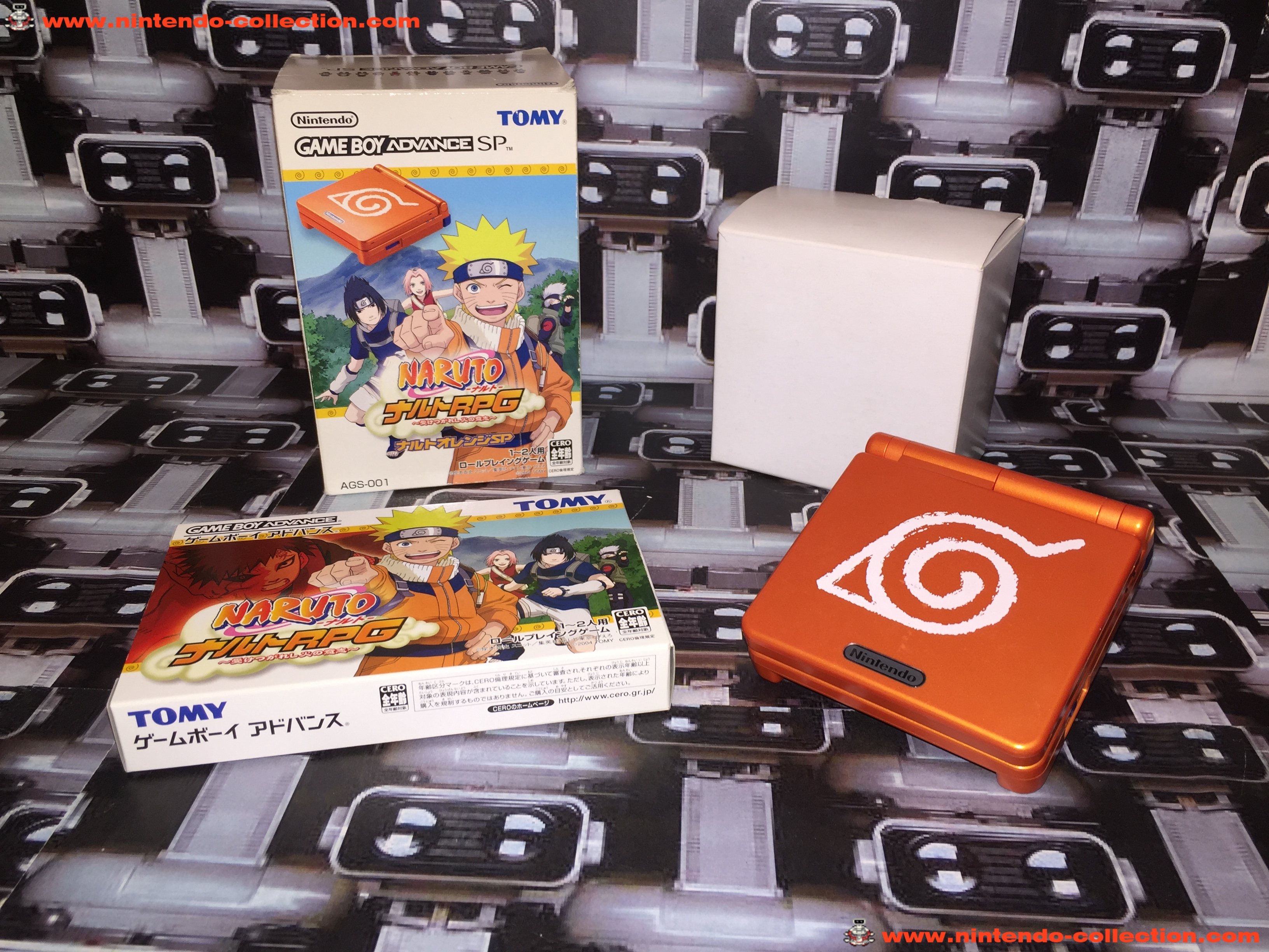 www.nintendo-collection.com - Gameboy Advance GBA SP Naruto RPG Limited Edition Japan Japanese Japon