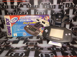 www.nintendo-collection.com - Gameboy Advance GBA E reader Bundle Limited edition Black Noir Austali