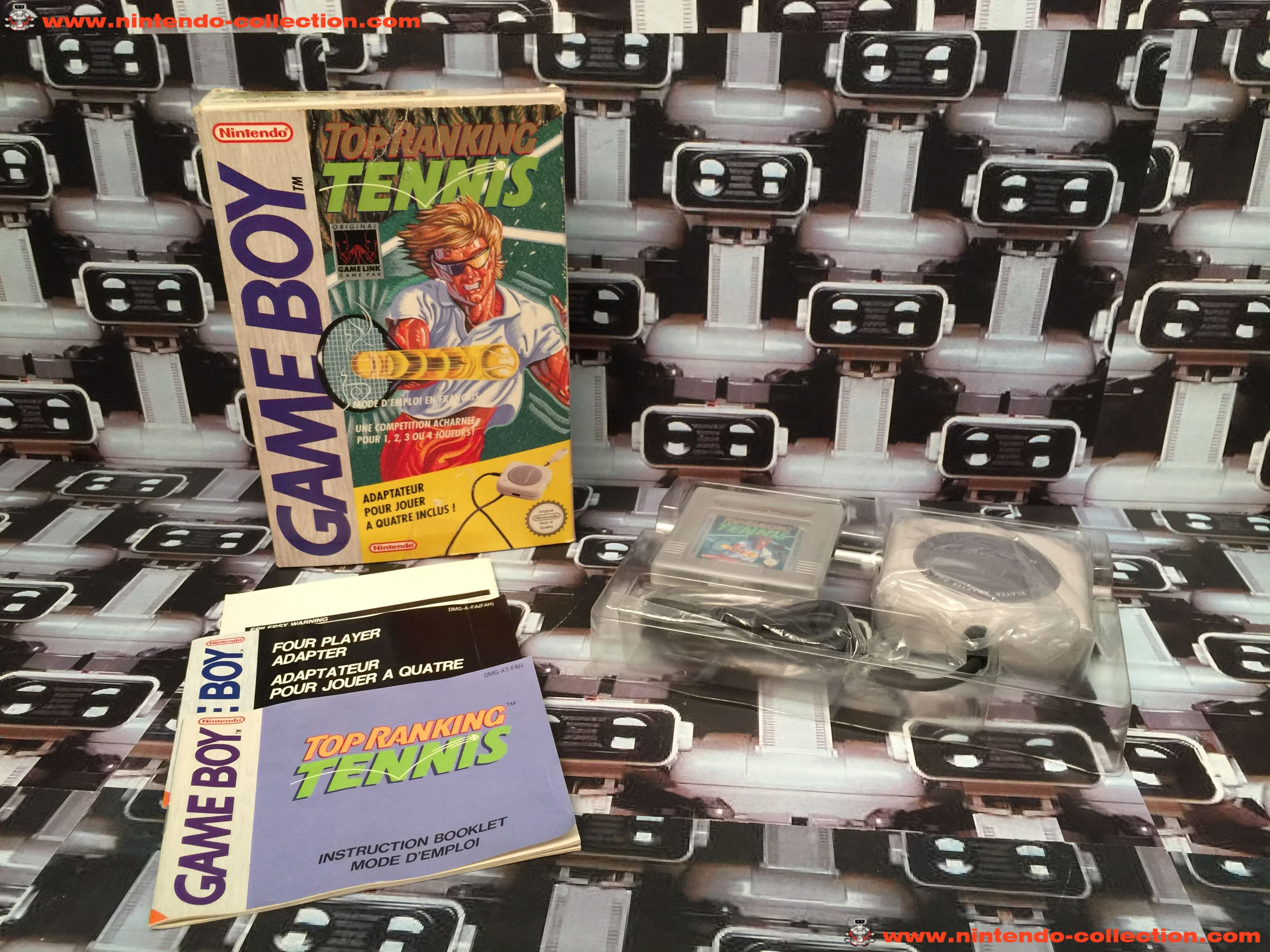www.nintendo-collection.com - Gameboy Game Jeux Top Ranking Tennis +4 player Link