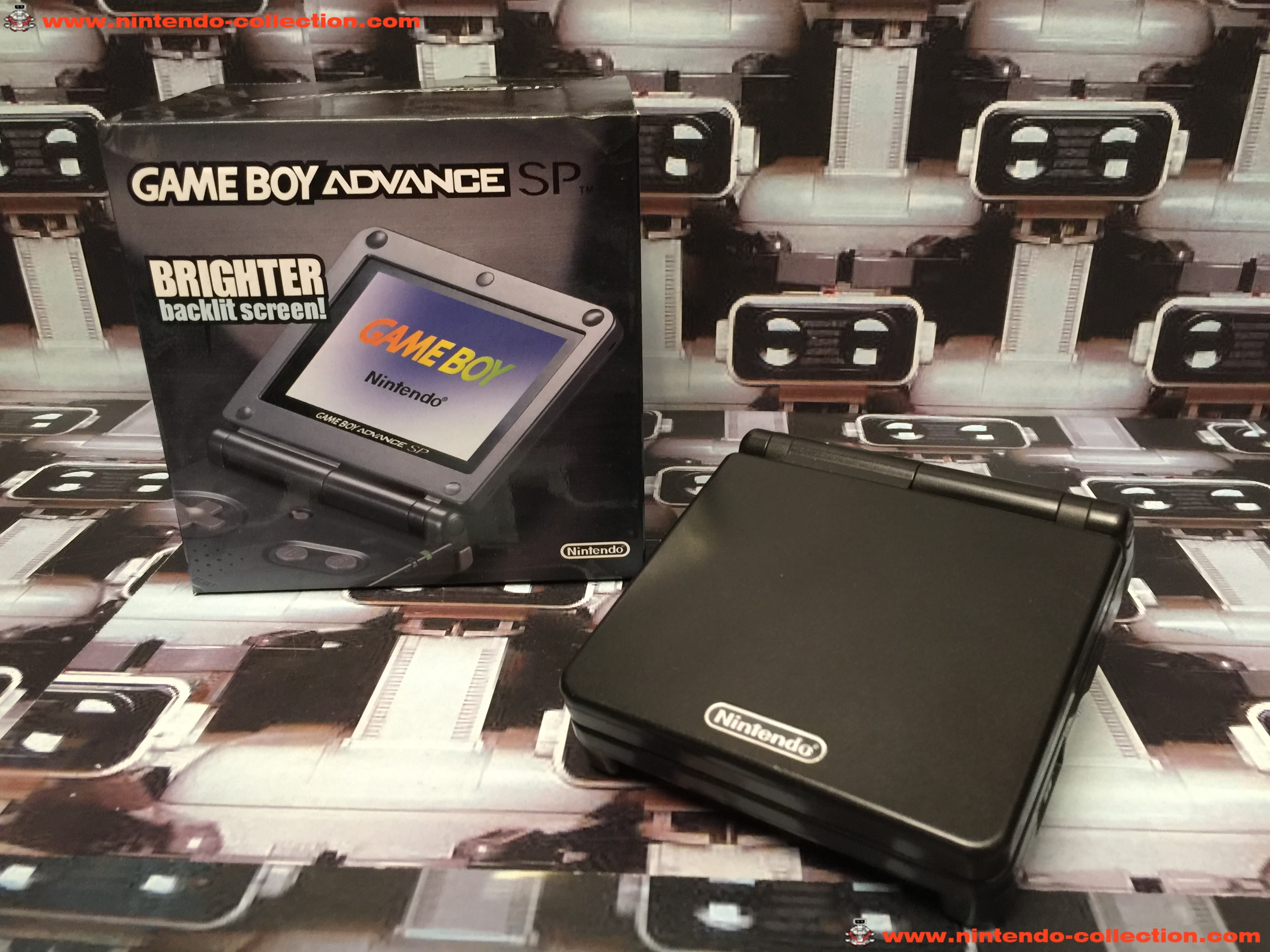 www.nintendo-collection.com - Gameboy Advance GBA SP Black Noir edition Singapour Singapore - 01