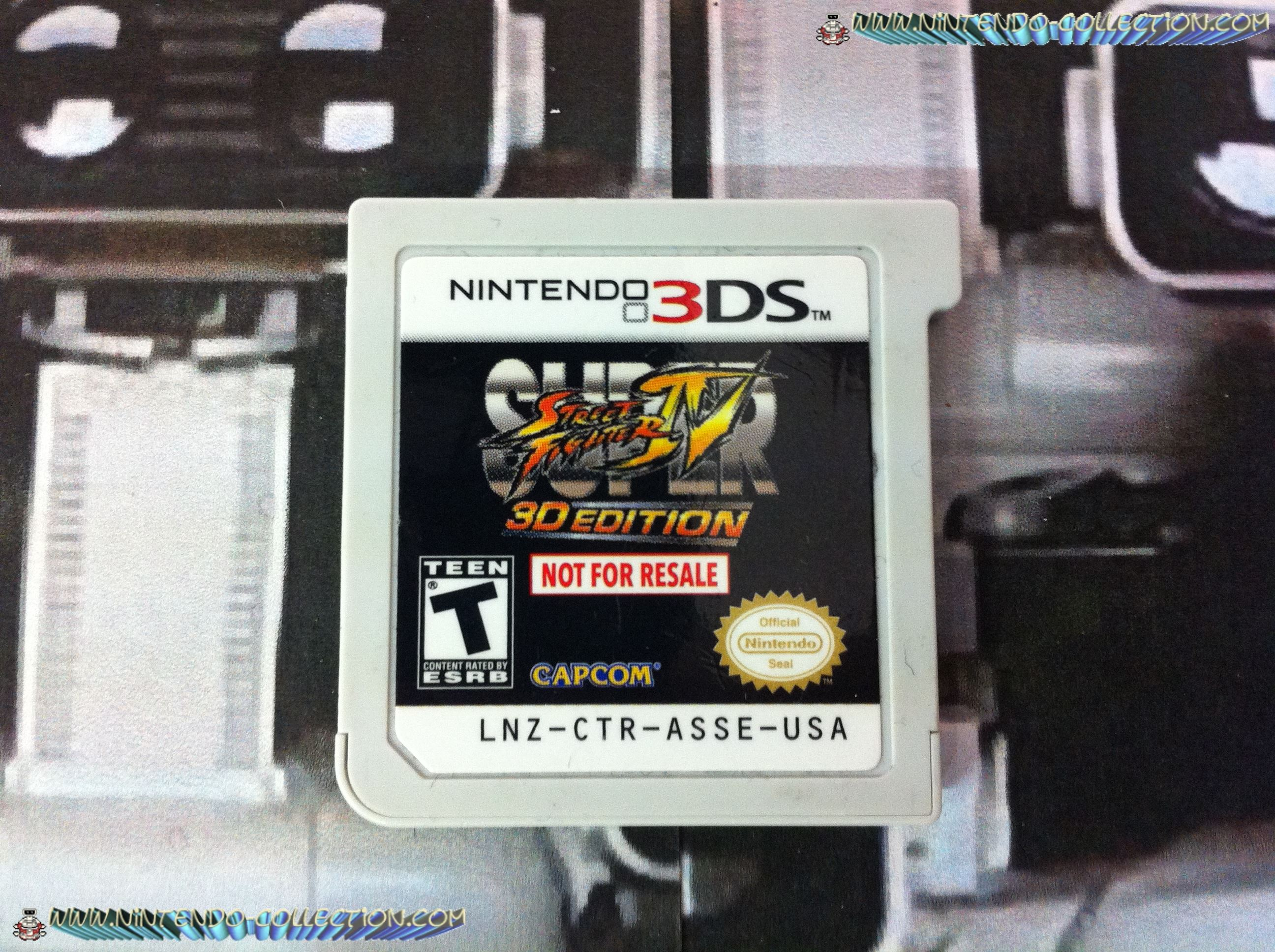 www.Nintendo-Collection.com - Demo 3DS Nintendo Super Street Fighter IV 3D edition Not For Resale
