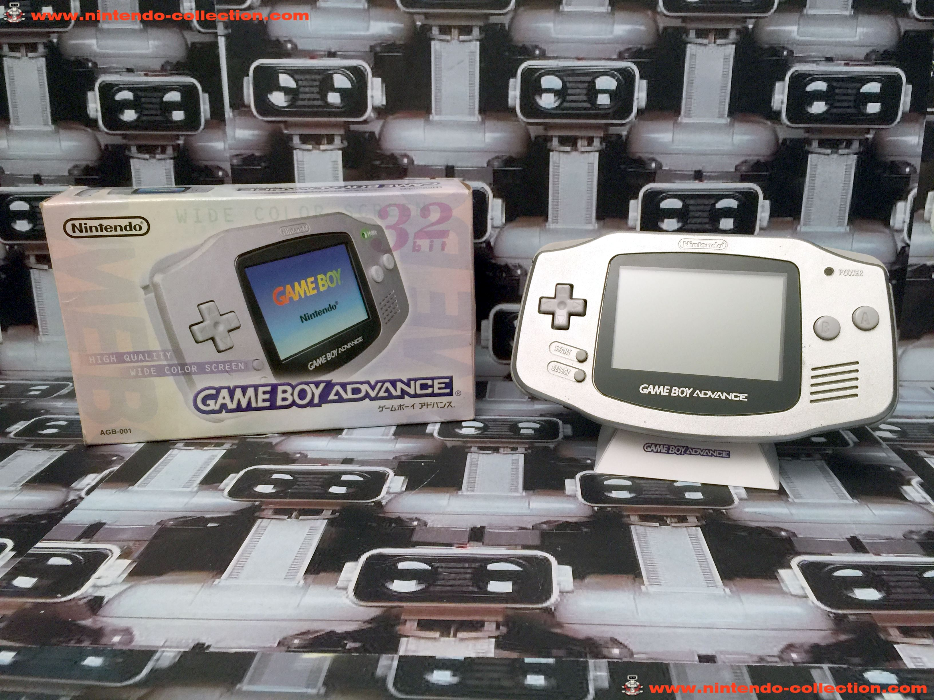 www.nintendo-collection.com - Gameboy Advance GBA Silver Platinium Argent Grise Japanese Japan Japon