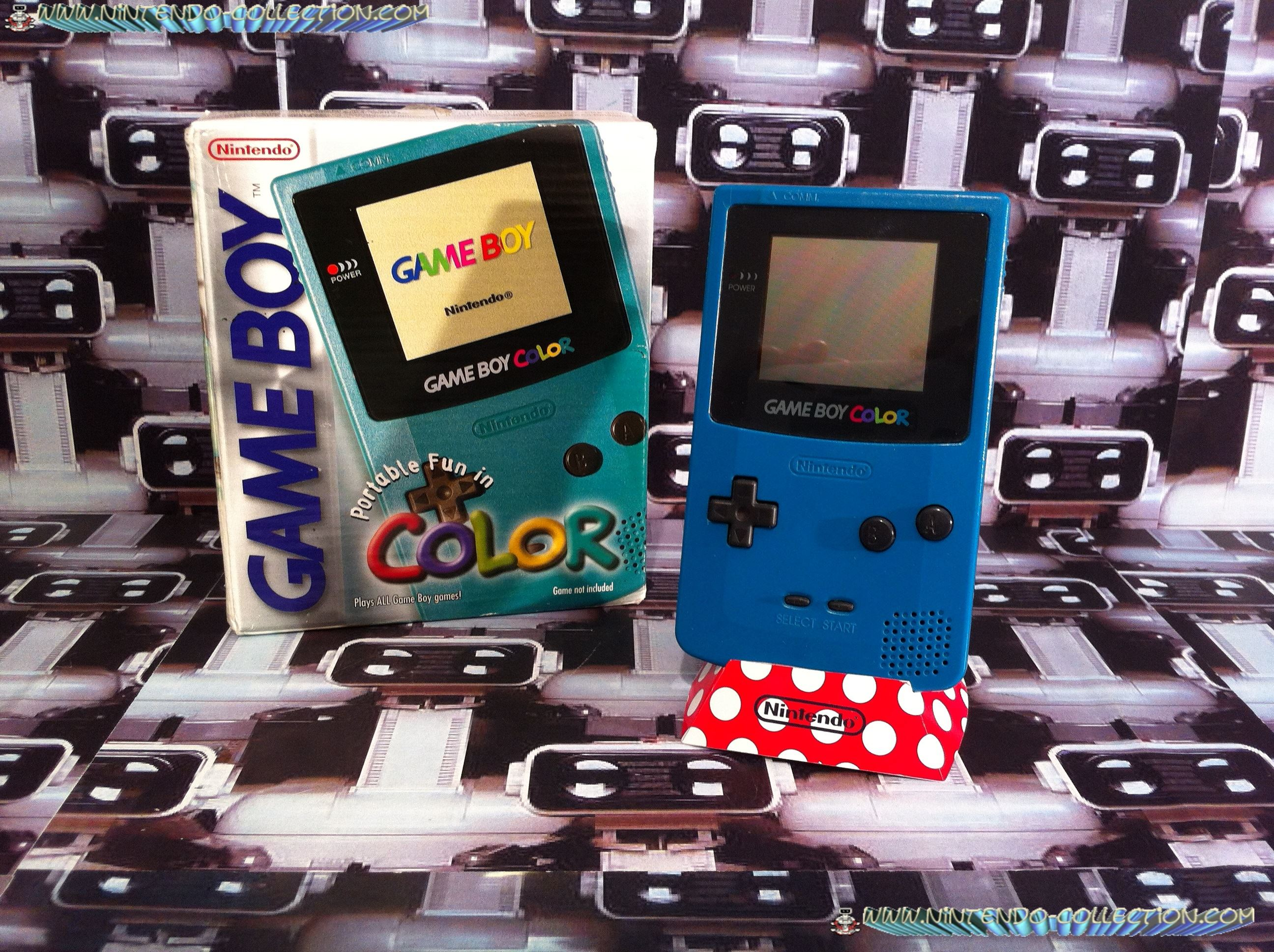 www.nintendo-collection.com - Gameboy Color Bleu green bleu vert edition auropean europe