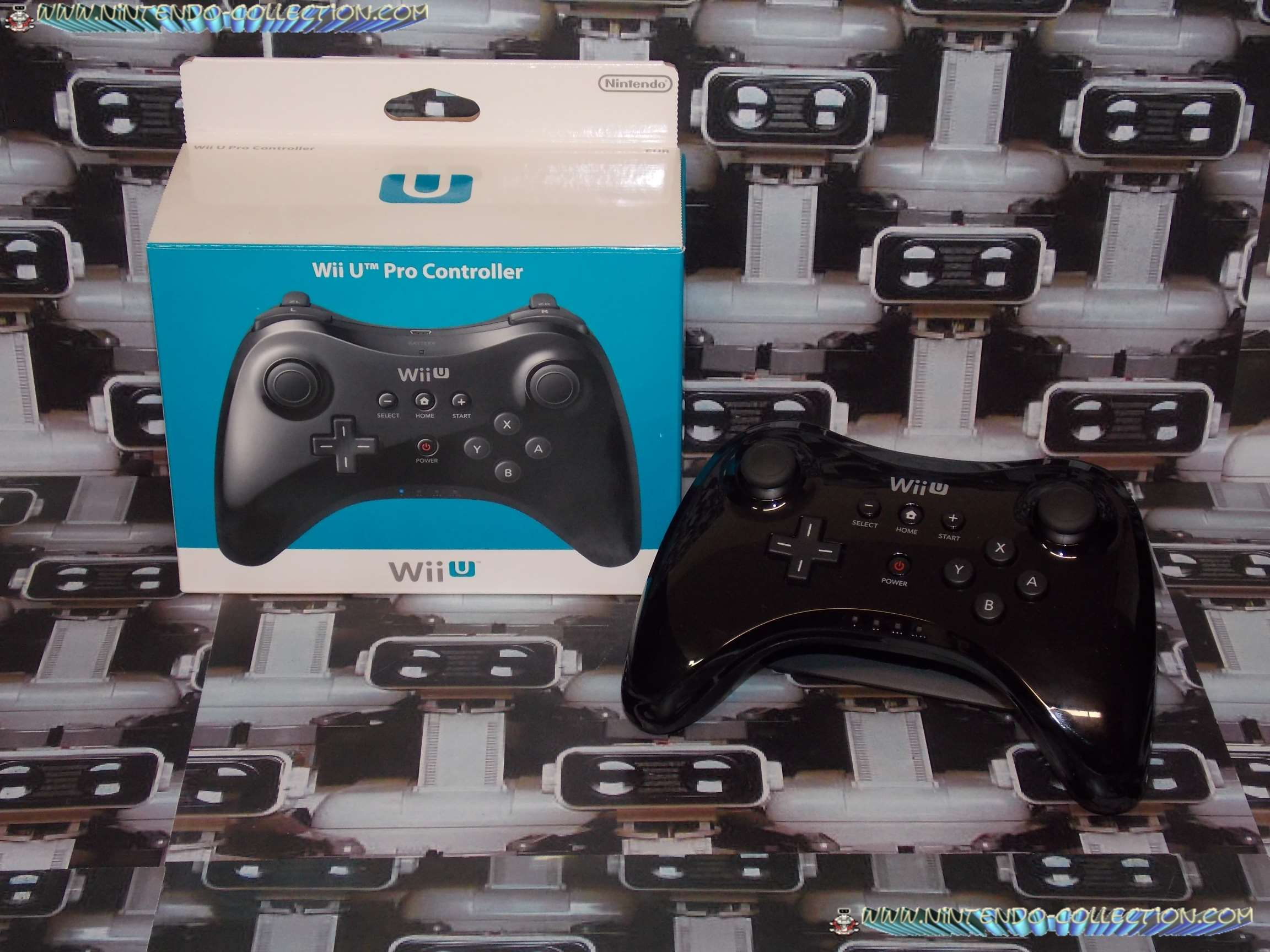 www.nintendo-collection.com - Wii U Pro Controller Manette Black Noir
