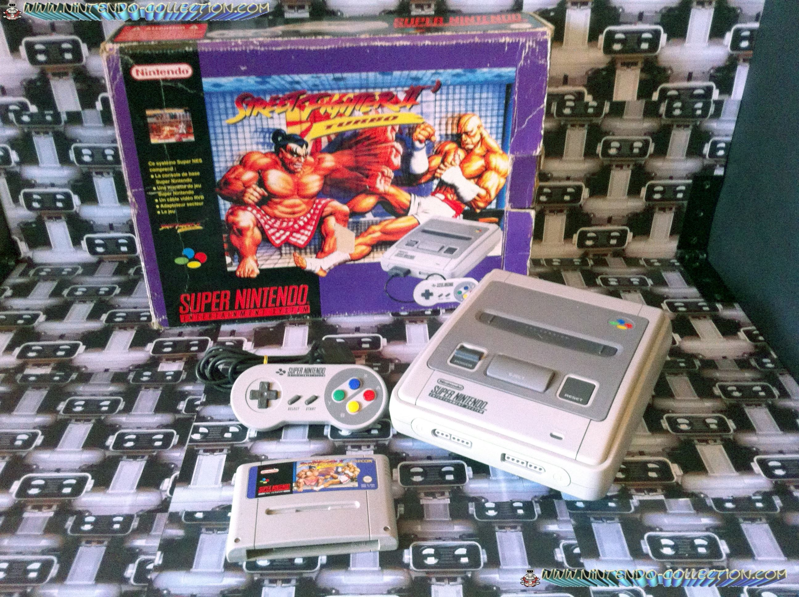 www.nintendo-collection.com - Super Nintendo Super Famicom Super Nes Pack Street Fighter 2 Turbo