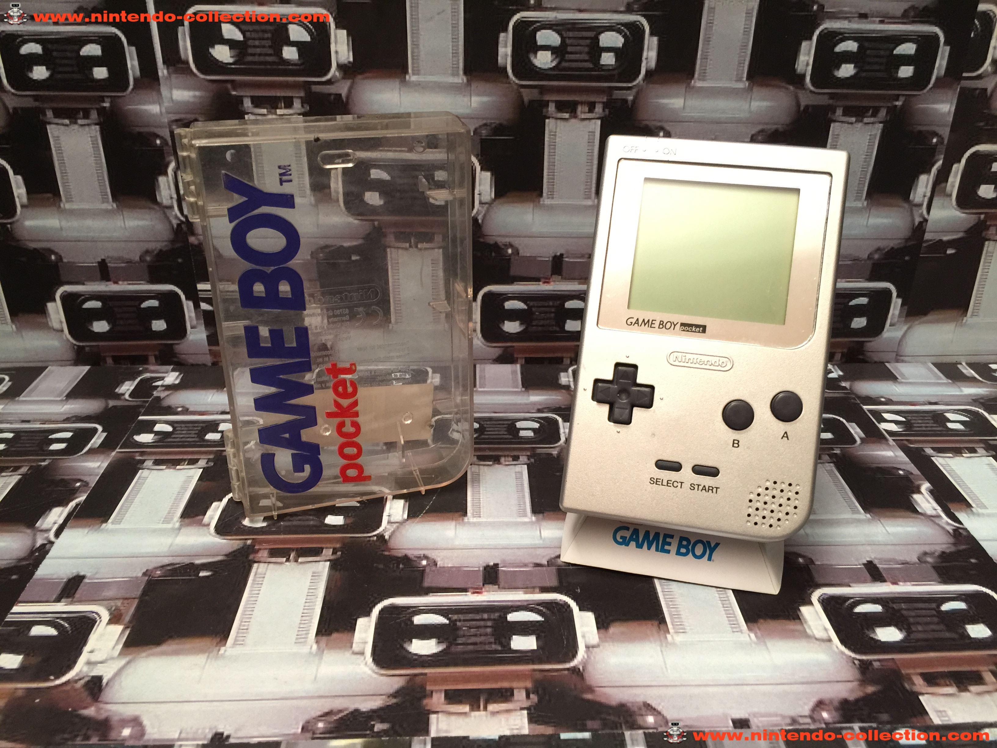 www.nintendo-collection.com - Gameboy Pocket GB Silver Argent Grise ecran chrome No LED - 01