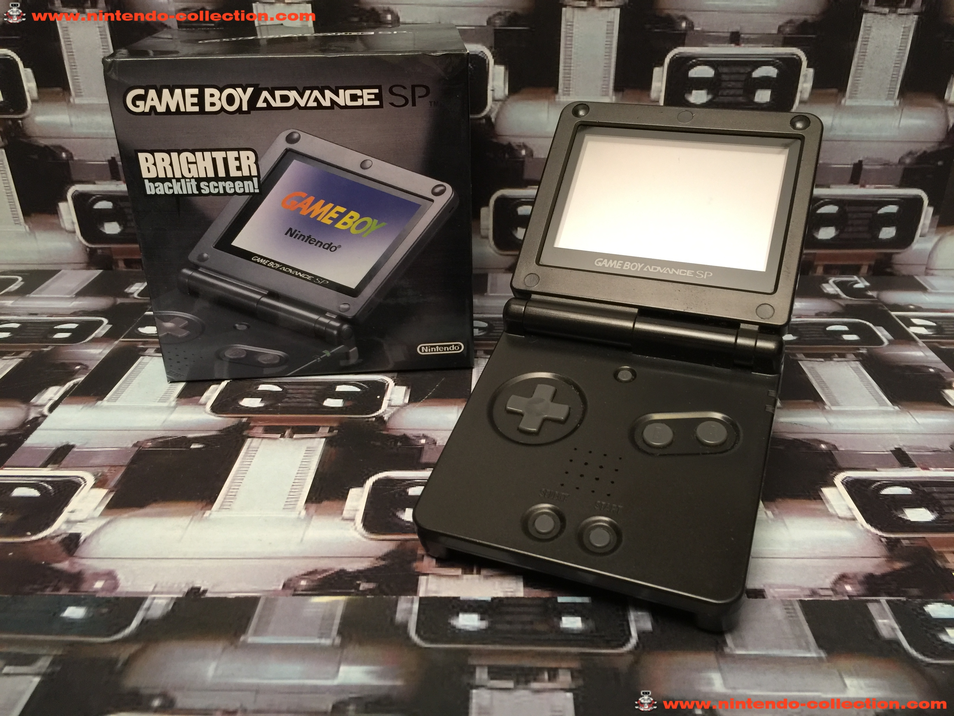 www.nintendo-collection.com - Gameboy Advance GBA SP Black Noir edition Singapour Singapore - 03