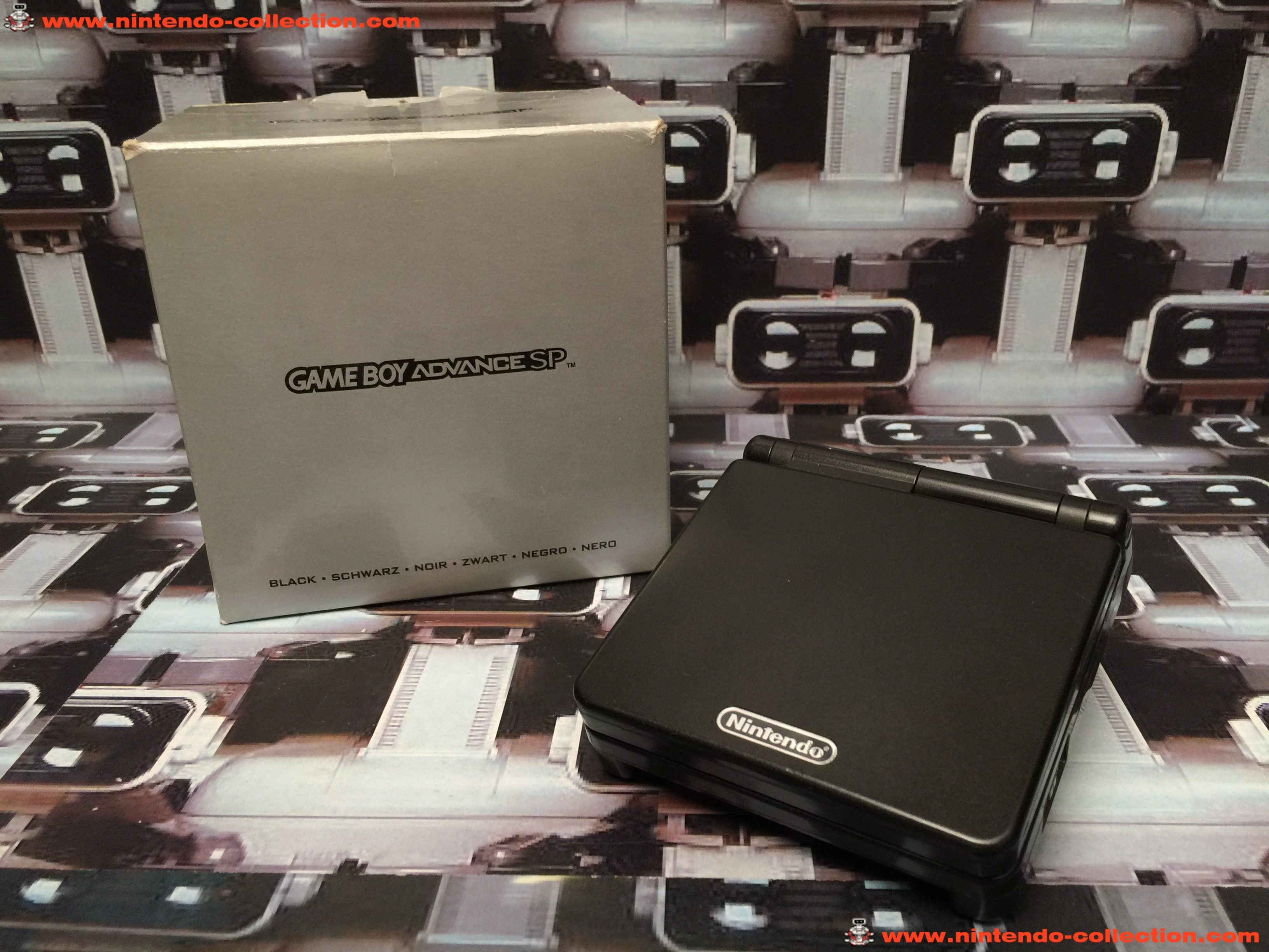 www.nintendo-collection.com - Gameboy Advance GBA SP Black Noir Edition europeenne european - 01