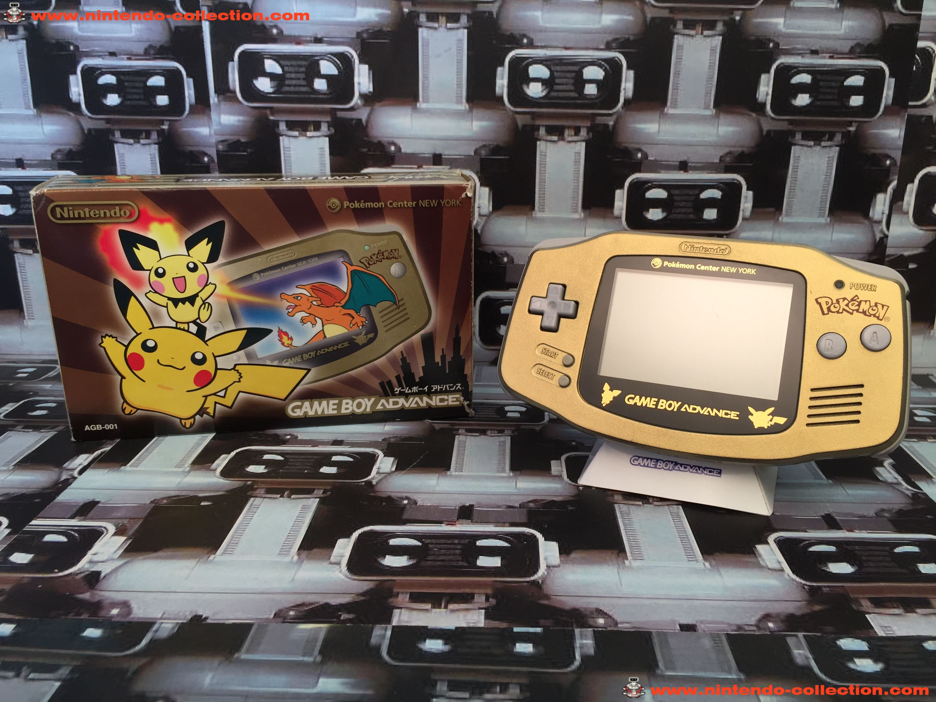 www.nintendo-collection.com - Gameboy Advance GBA Pokemon Center Nex-York Pikachu Pichu Limited Edit