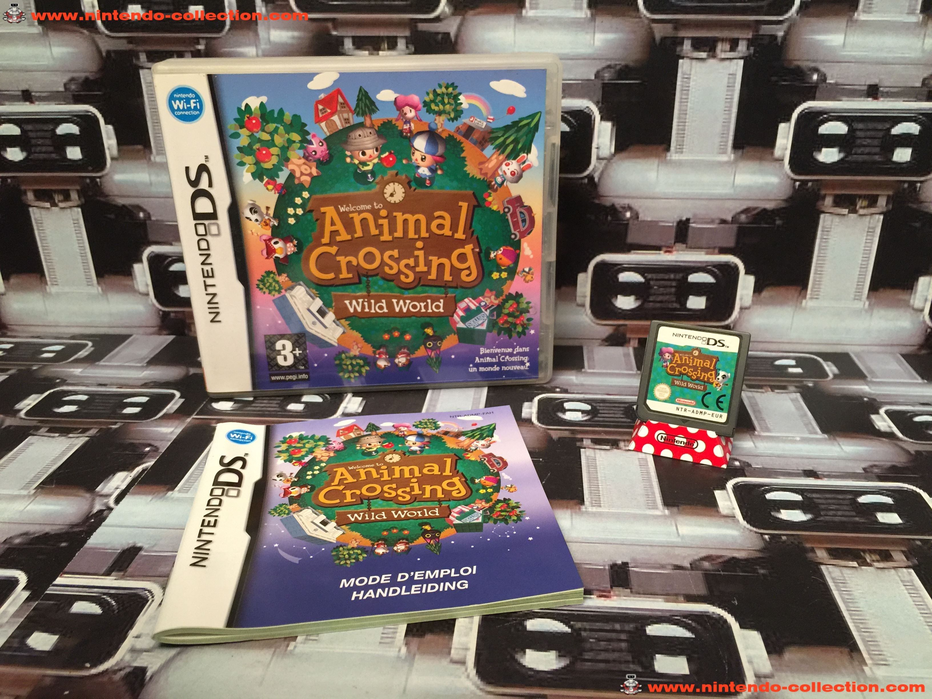 www.nintendo-collection.com - Nintendo DS Jeux Game Animal Crossing Wild World Euro