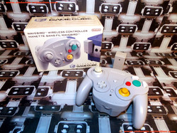 www.nintendo-collection.com - Gamecube controller manette Wavebird gris Grey