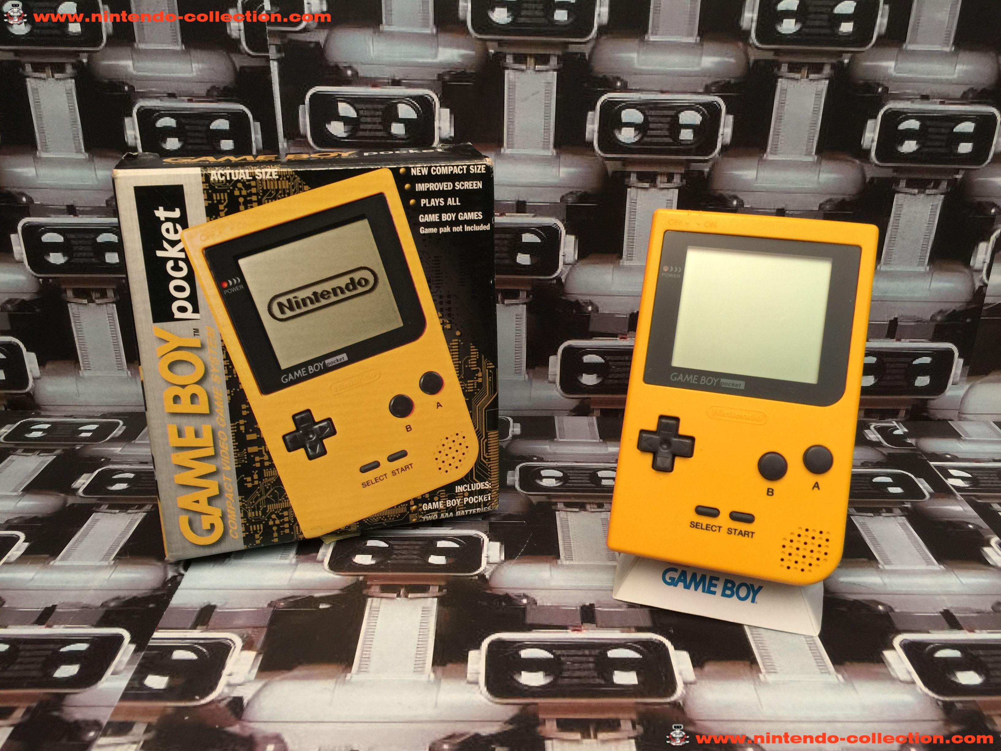 www.nintendo-collection.com - Gameboy GB Pocket Yellow Jaune en boite in box European Europe