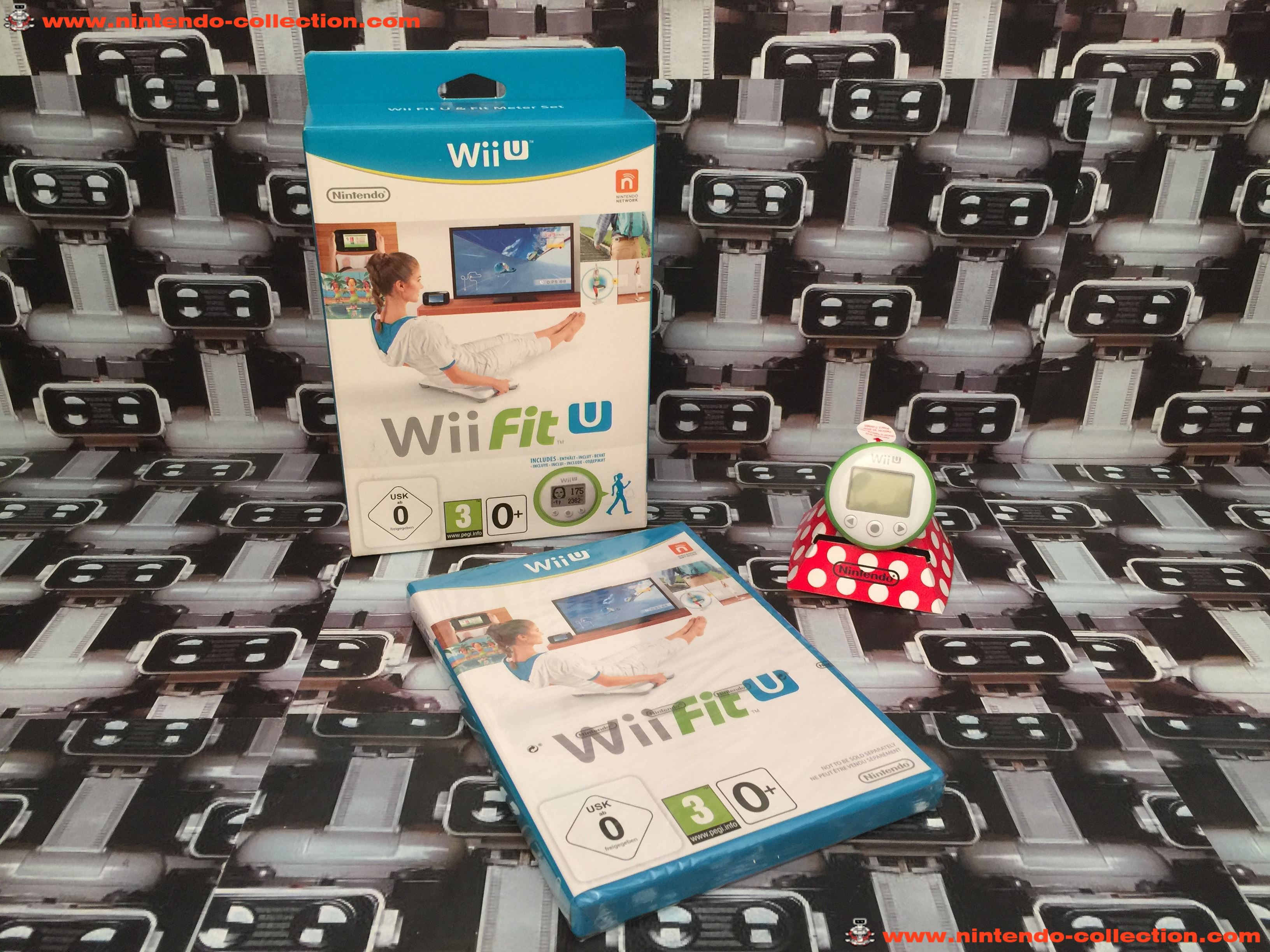 www.nintendo-collection.com - Wii U game Jeu Wii Fit U & Fit Meter Green Vert Set - 01