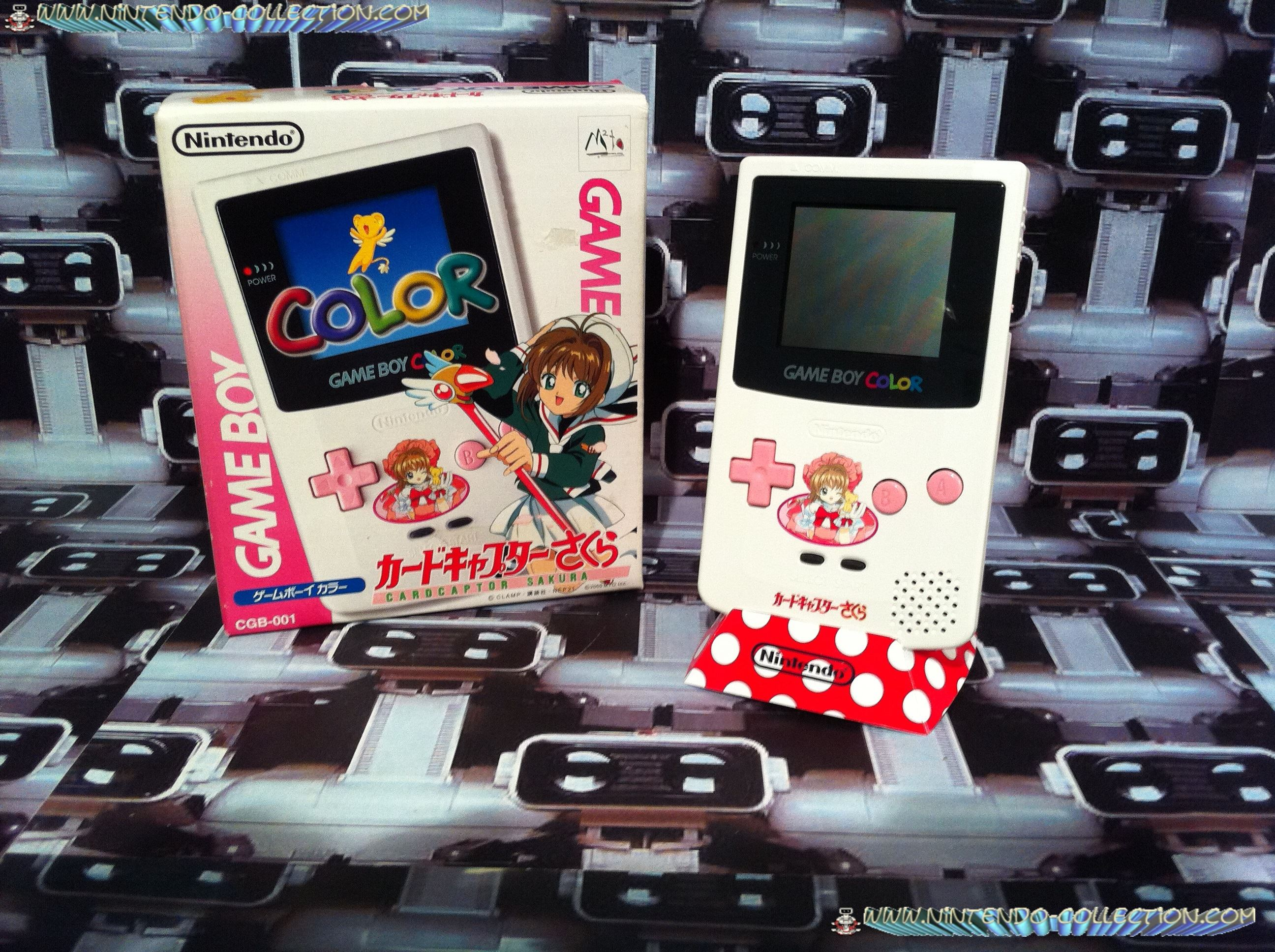 www.nintendo-collection.com - Gameboy Color Sakura Cardcaptor edition Japan