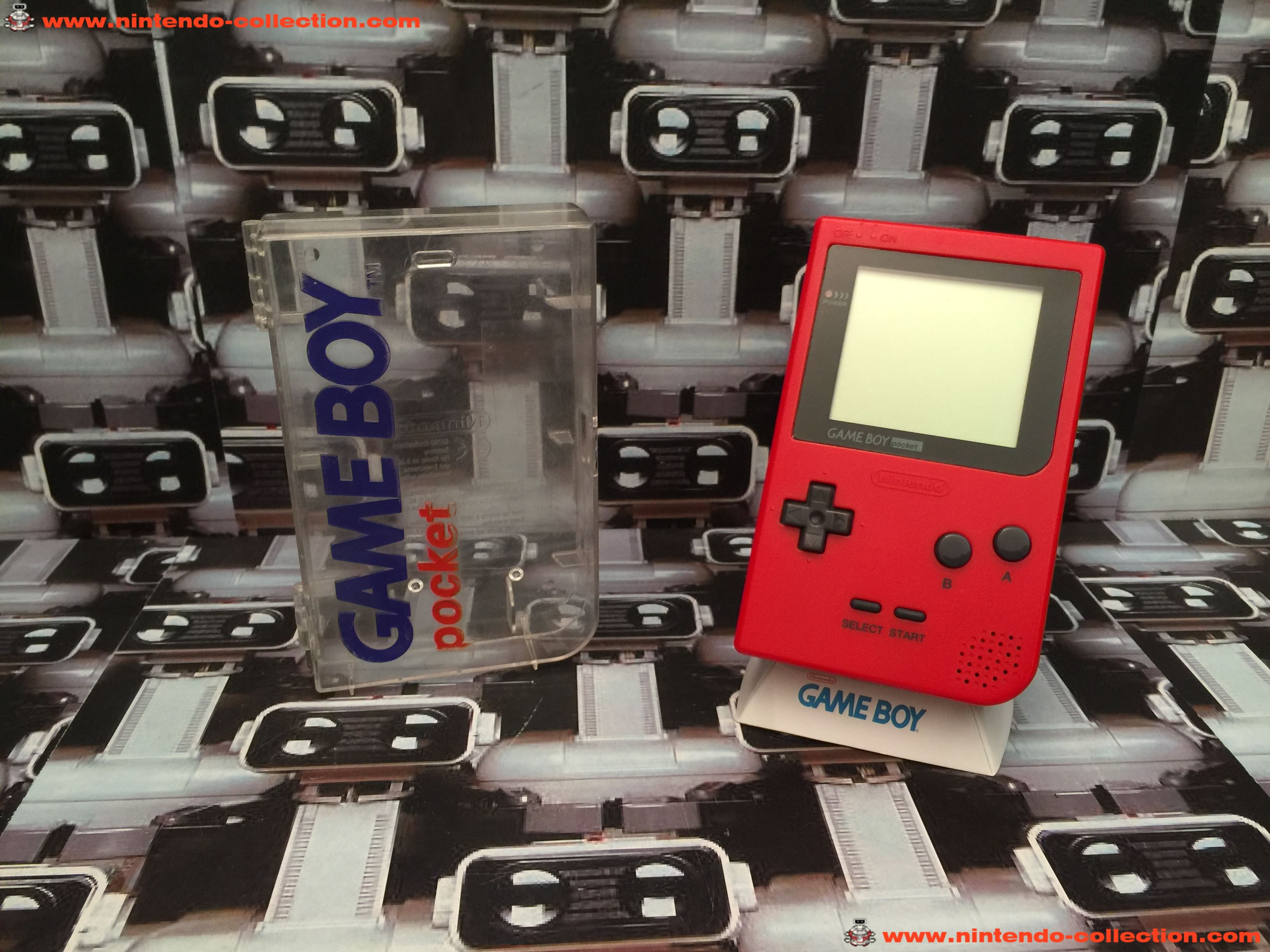 www.nintendo-collection.com - Gameboy Pocket GB Red Rouge Crystal Box - 01