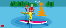 Stand up paddle boarding for Crunchy Tal