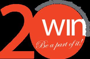 Dazzling anniversary logo for WIN