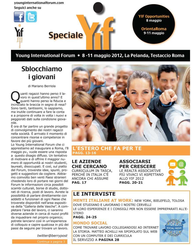 Young International Forum magazine