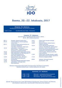 Suomi-seuran ohjelma 100 vuotta