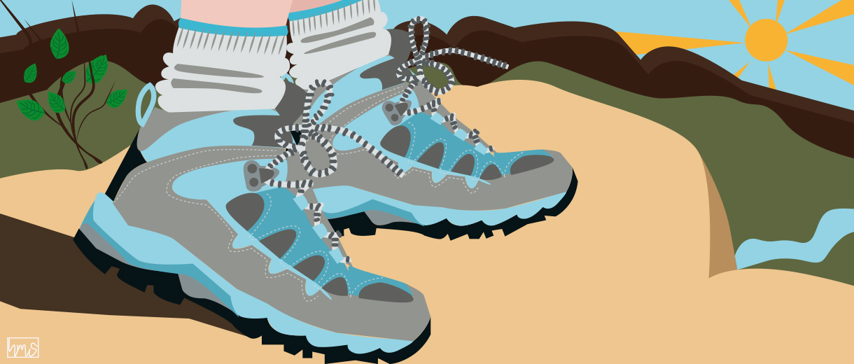 Trekking shoes for CrunchyTales