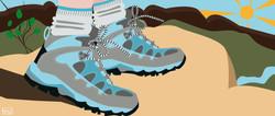 Trekking shoes for CrunchyTales