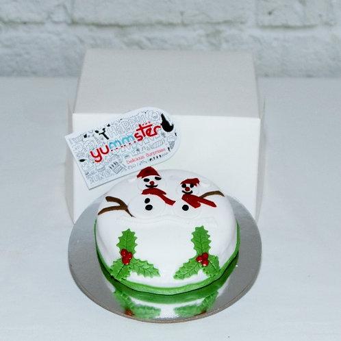 Snowman 9cm Cake
