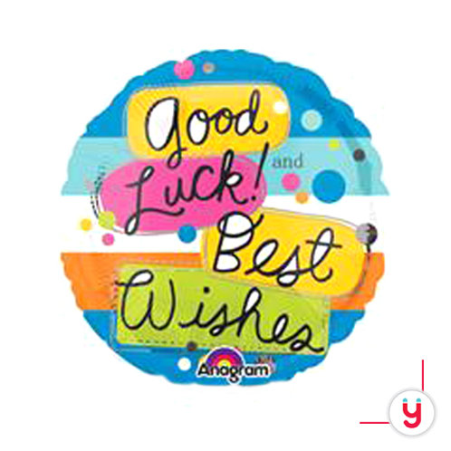 Good Luck Best Wishes balloon