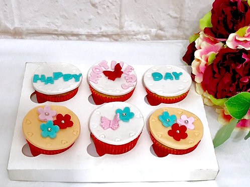 6x Mothers Day Cupcakes