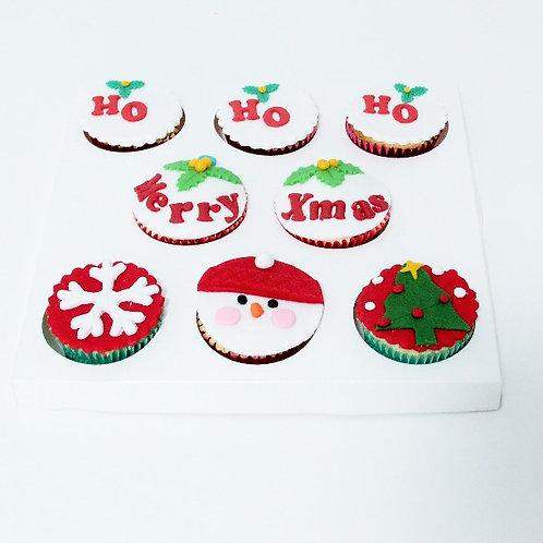 8x Christmas Cupcakes