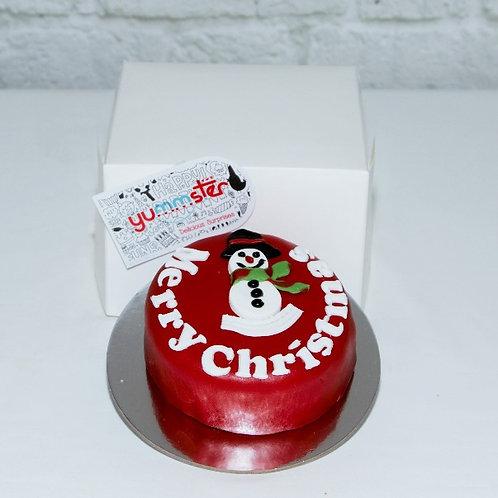 Snowman 9cm Red Cake