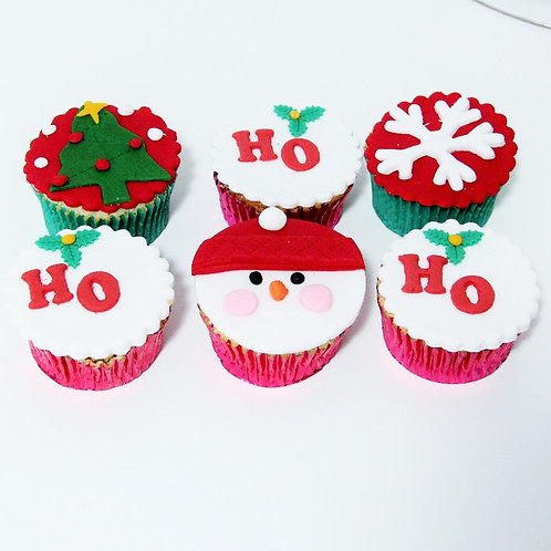 6x Ho-Ho Cupcakes