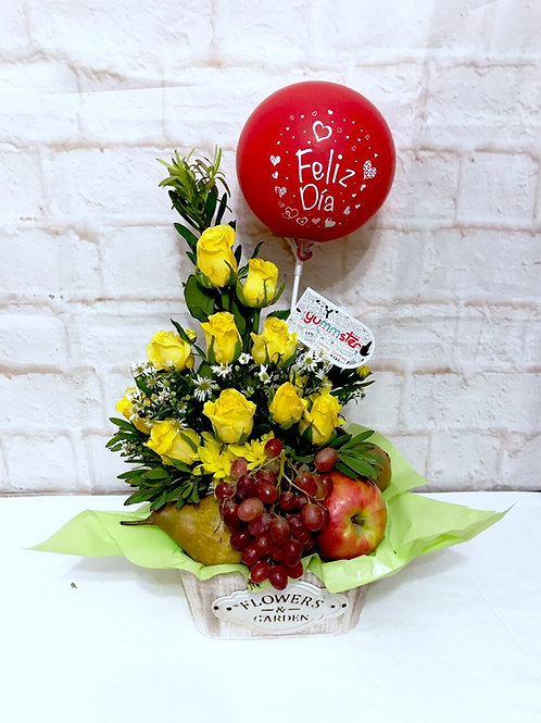 Roses & Fruit Bouquet