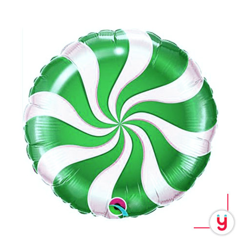 Green Spiral balloon