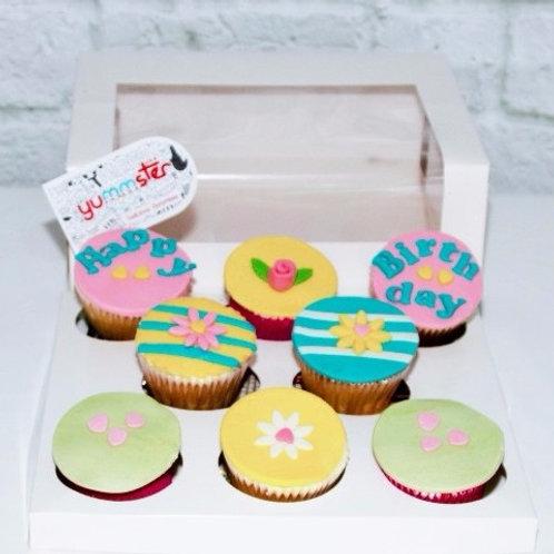 8x Custom Cupcakes