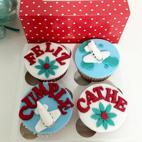 4x Custom Cupcakes