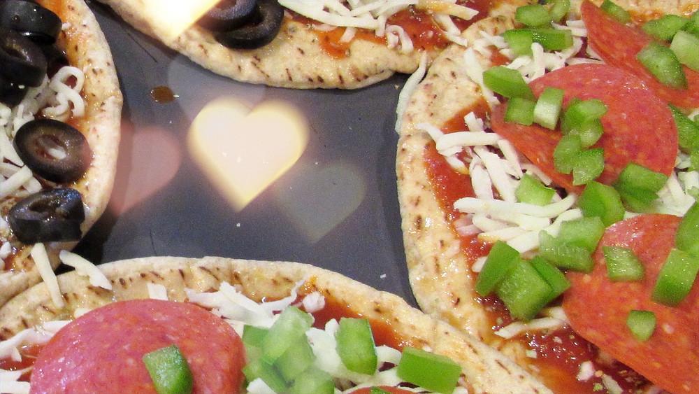 Pita Pizzas Heart