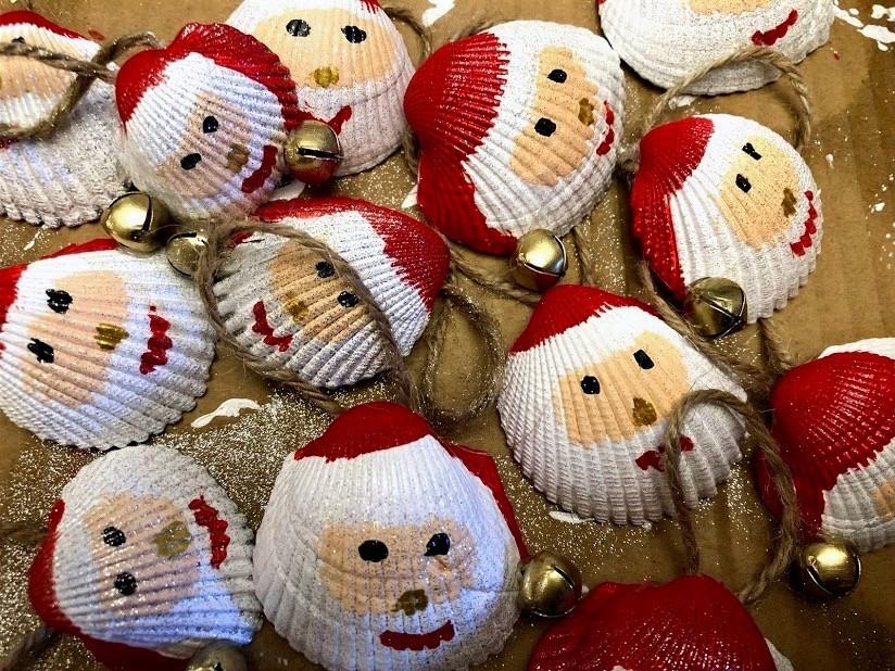 Crafty Shell Santas